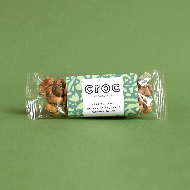 noix de cajou herbes de provence noix de cajou bio et éthique croc snack grossiste noix de cajou bio sachet