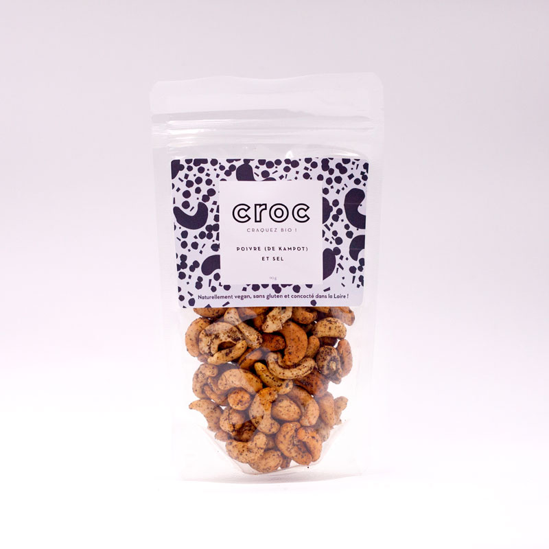 noix de cajou au poivre et sel poivre de kampot noix de cajou bio éthique grossiste noix de cajou bio france