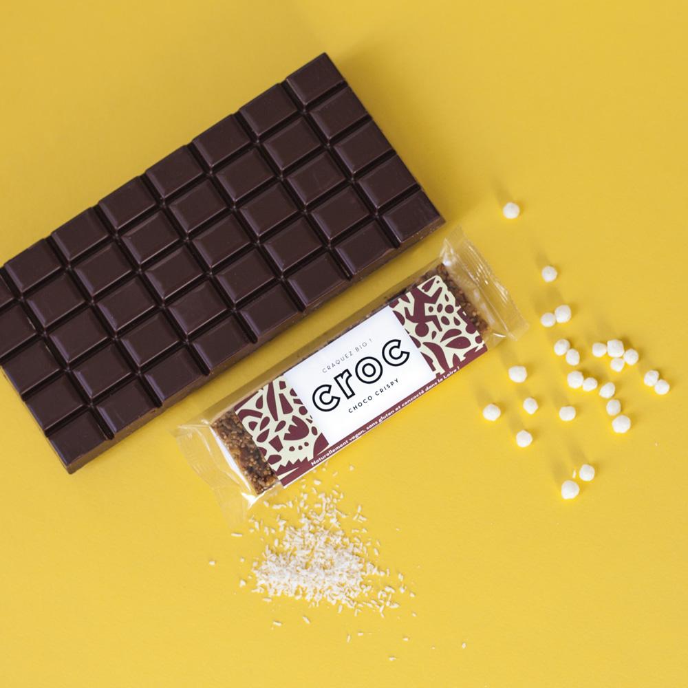 barre de céréales bio chocolat noix de coco choco crispy barre chocolat bio barre céréales bio barre chocolatée bio
