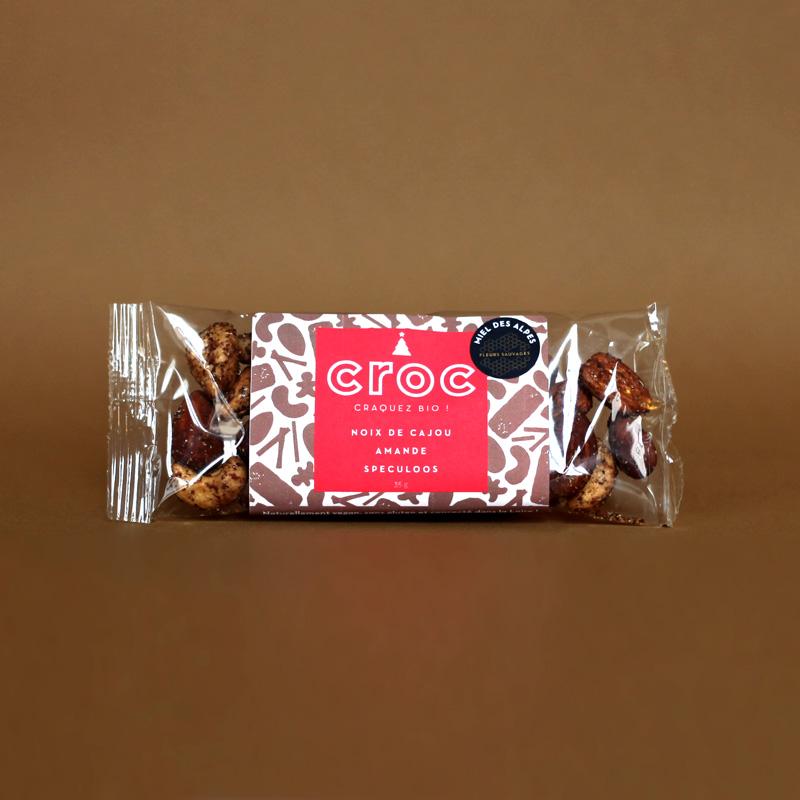 croc snack grossiste noix de cajou bio éthiques équitable grossiste snack noix de cajou speculoos sachet