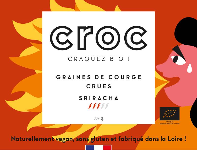 graines de courge crues sriracha graines de courge bio éthique grossiste noix de cajou bio France